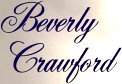 Dr. Beverly Crawford - booking information