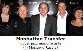 Richard De La Font with The Manhattan Transfer in Moscow, Russia